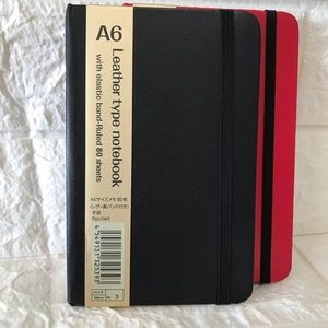 Other - Leather type notebook with elastic band